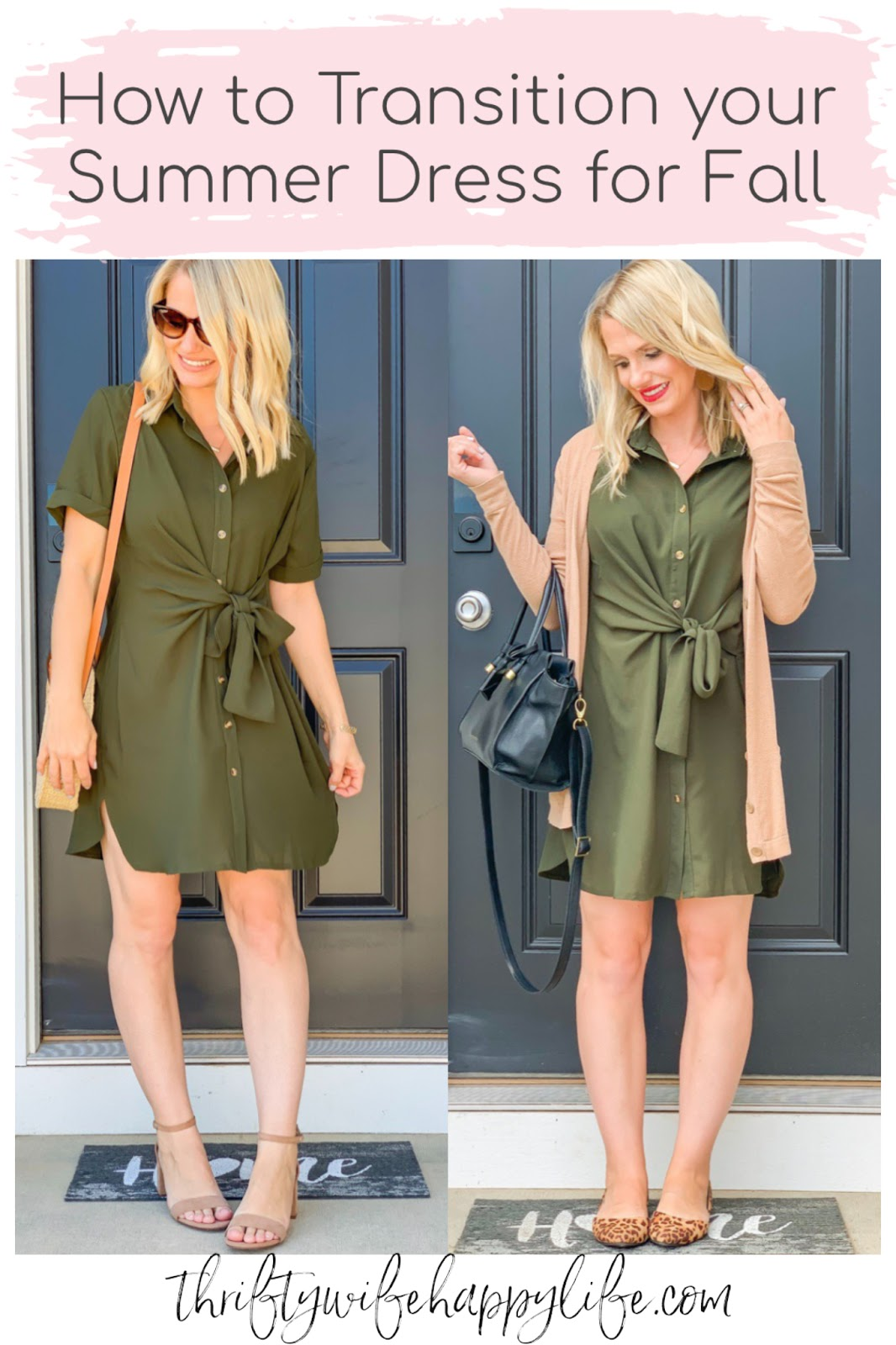 How to style a summer dress to fall