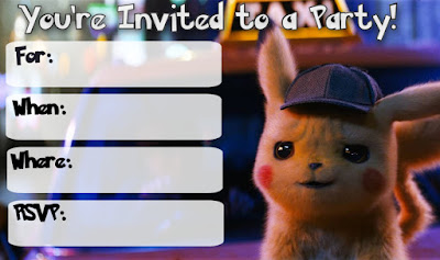 detective pikachu party printables