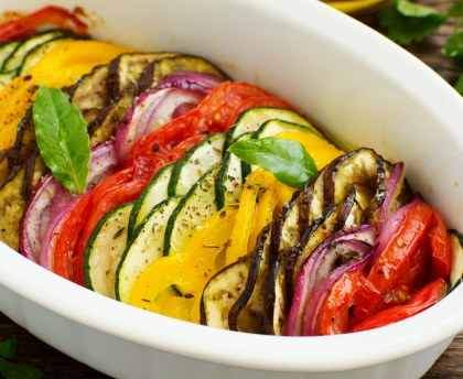Eggplant and pepper tian