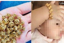 Demi Tampil Bergaya Ibu Kenakan Emas ke Tangan Bayinya, 3 Bulan Kemudian Gelang Dibuka Langsung Menyesal