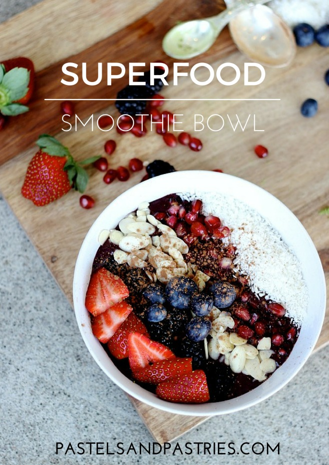 Superfood smoothie bowl recipe