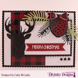 Stamp/Die Duos: Loads of Love, Paper Collection: Rustic Christmas, Mixed Media Stencils: Arrows, Custom Dies: Pierced Rectangles, Scalloped Rectangles, Deer Silhouette, Pinecones & Pine Branches, Treat Tags