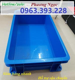 tndb2.5 - Thùng nhựa B2, khay nhựa đặc, hộp nhựa B2, sóng nhựa công nghiệp có nắp