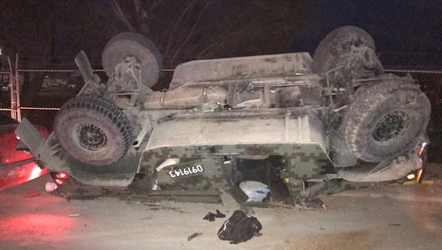 """""""Grupo Escorpion"""" del CDG responsable logra volcar y herir a seis militares tras fuerte enfrentamiento en Tamaulipas."""