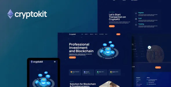 Blockchain Cryptocurrency Elementor Template Kit