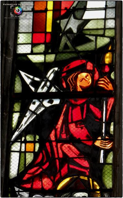CHATEL-SUR-MOSELLE (88) - Vitraux de l'église Saint-Laurent