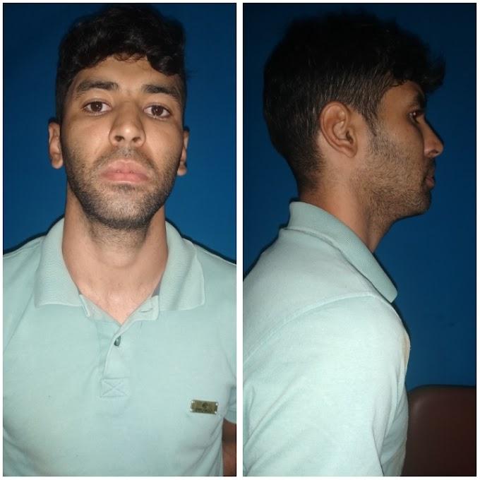 Efetivo do GATI cumpre mandado de prisão contra Cleiton Willams de 30 anos, no bairro São José em Surubim.
