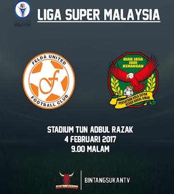 Felda United Vs Kedah 4 Februari 2017