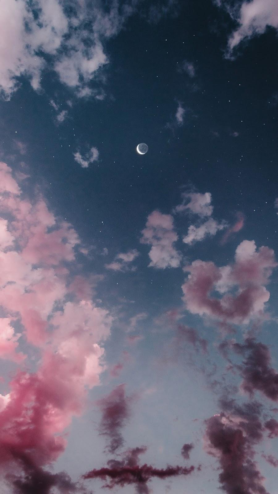 Bầu trời hồng siêu đẹp