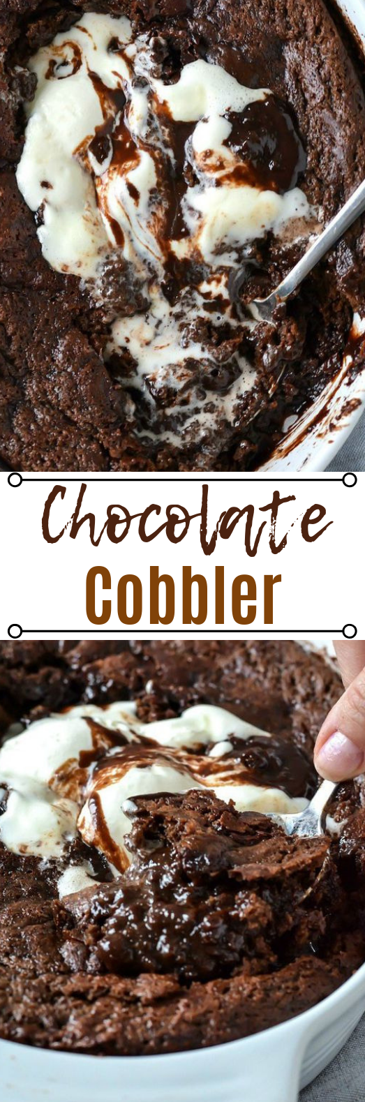 Old-Fashioned Chocolate Cobbler #chocolate #dessert