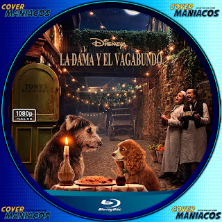 GALLETA LA DAMA Y EL VAGABUNDO - LADY AND THE TRAMP 2019[COVER BLU-RAY]