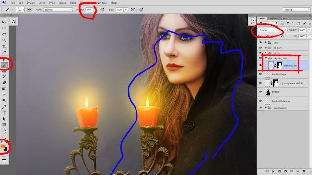 38 Design cover buku Novel dengan Photoshop CC part2