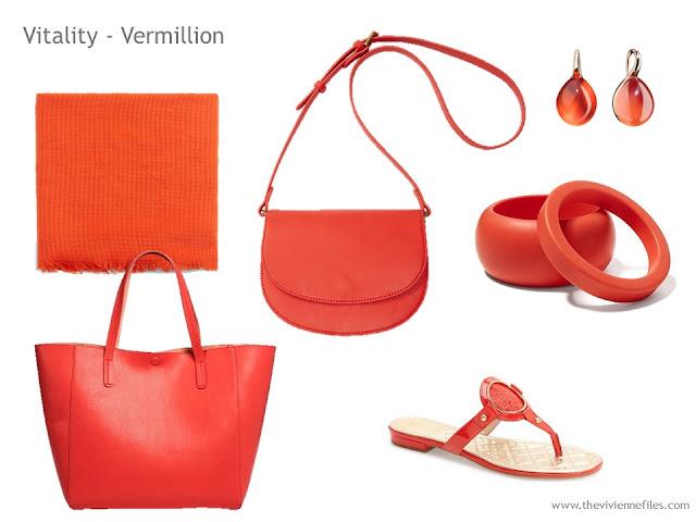 Adding Accessories to a Capsule Wardrobe in 13 color families - orange