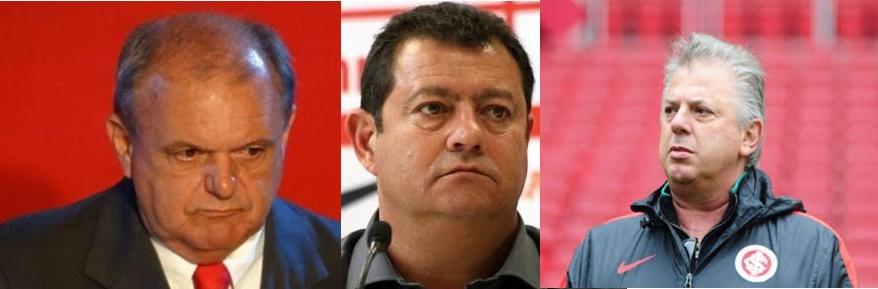 Piffero (esq), Pellegrini (cen) e Affatato estão entre os denunciados (Montagem sobre fotos de divulgação)