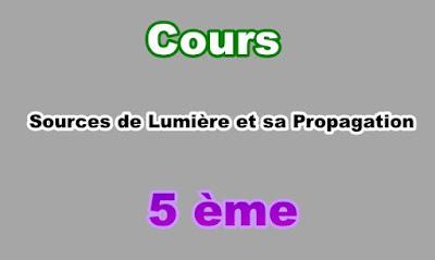Cours Sources de Lumière et sa Propagation 5eme en PDF