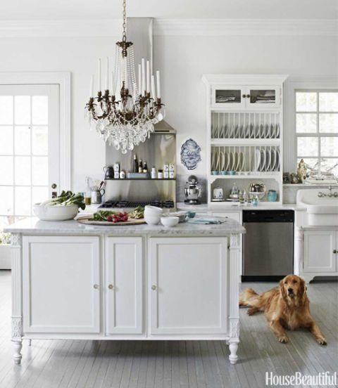 white Dutch kitchen of interior designer Annie Brahler of Eurotrash