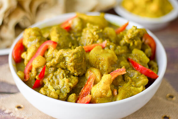 Recipe for curry chicken from Trinidad and Tobago