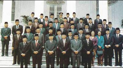 Susunan-Kabinet-Masa-Pemerintahan-Soeharto