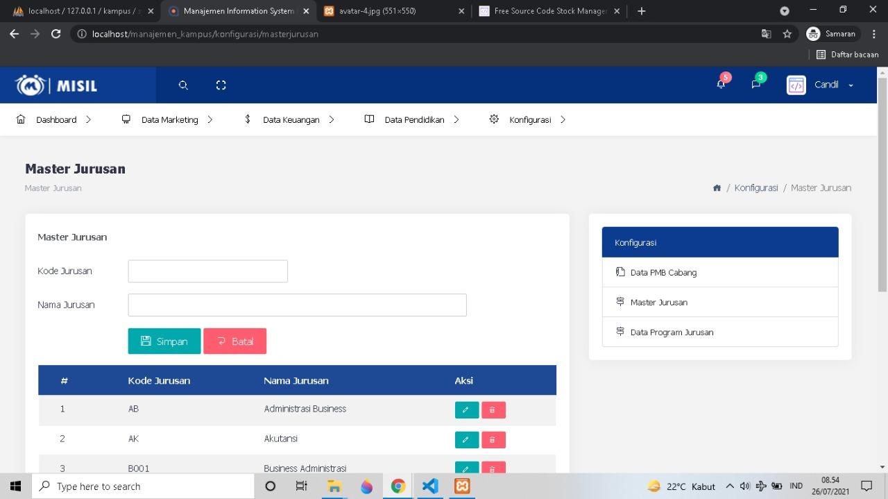 Aplikasi Sistem Manajemen Kampus