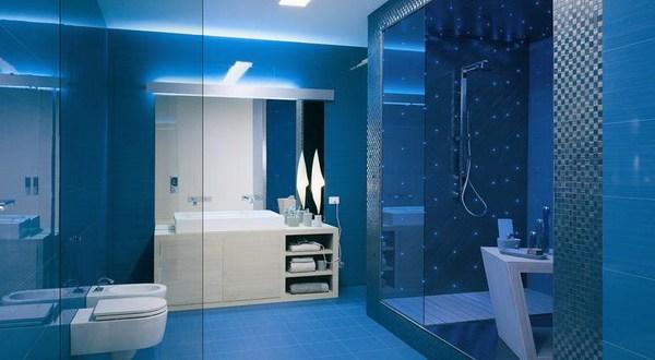 ديكور حمام عصري و فخم باللون الازرق 2020