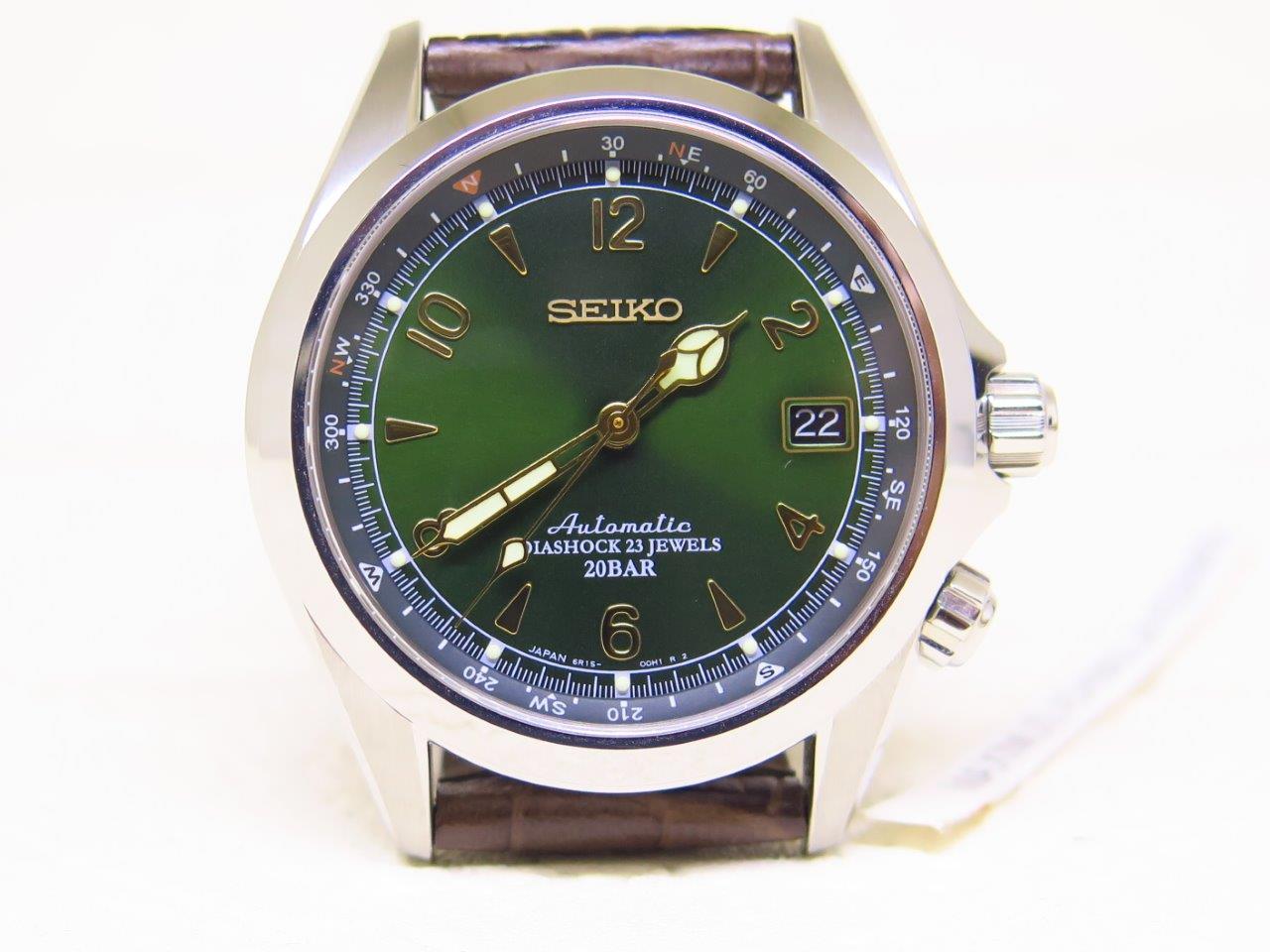 SEIKO ALPINIST SUNBURST GREEN DIAL SARB017 - AUTOMATIC 6R15