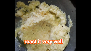 Image of roasting moong dal.