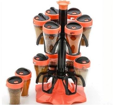 12 Jar Spice Rack, Masala Rack, Spice Container