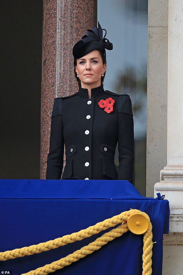 Duchess Kate and Royal Family Attend Remembrance Sunday Service