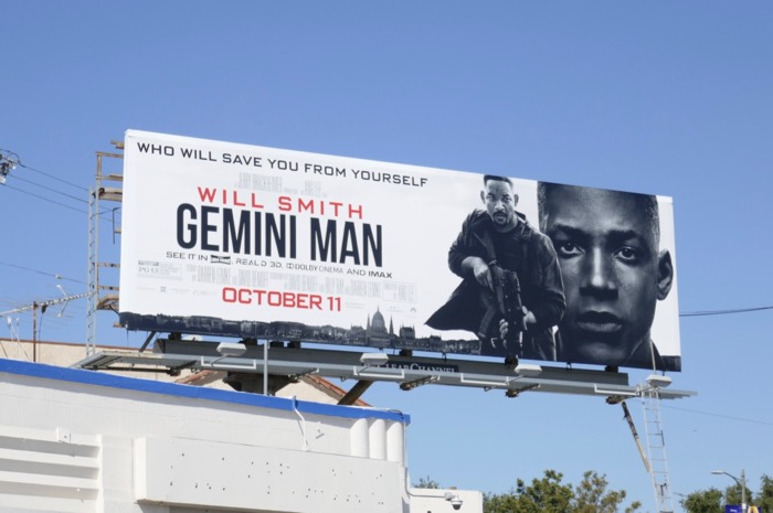 Will Smith Gemini Man movie billboard