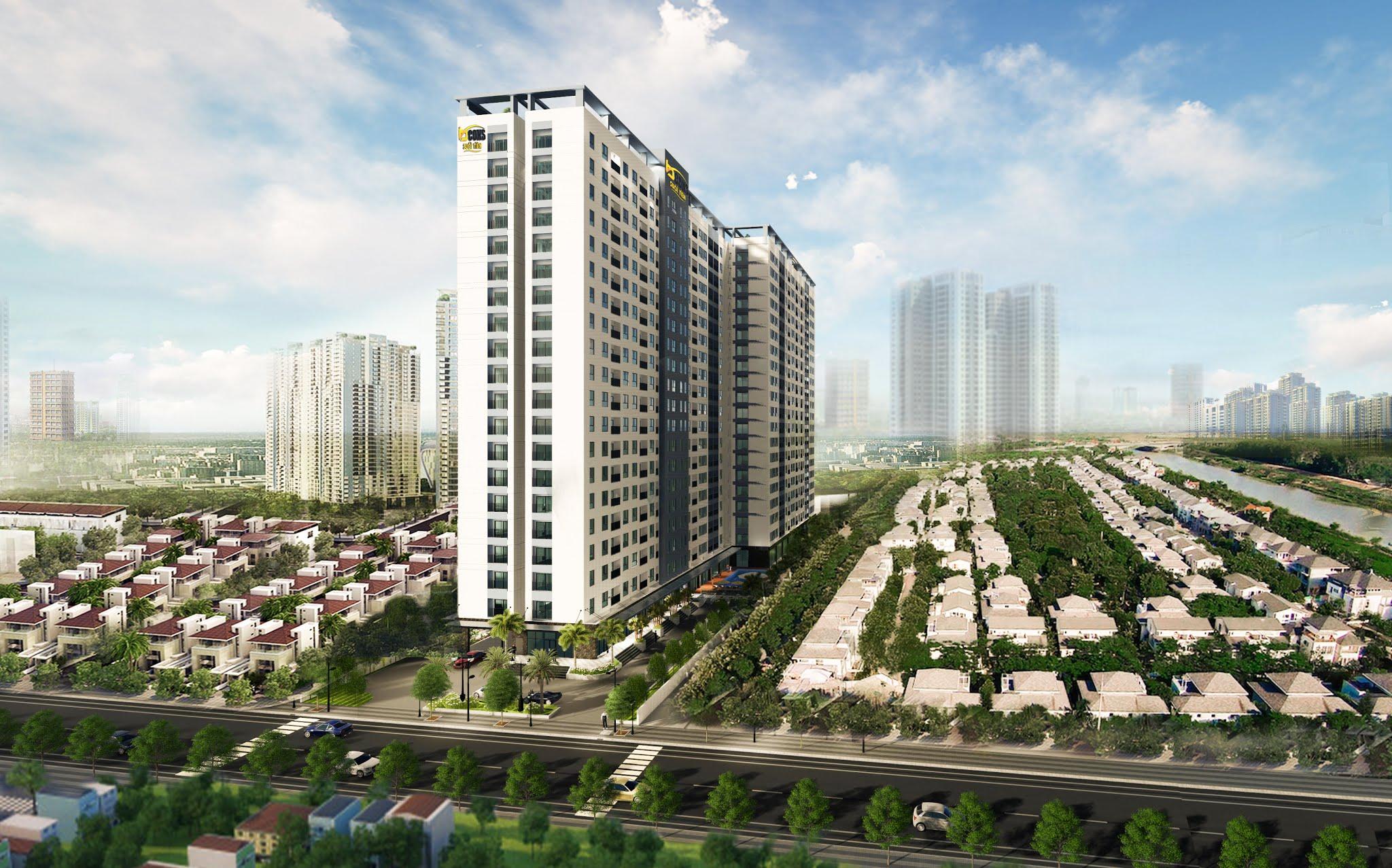 Phối cảnh khu căn hộ Bcons Suối Tiên