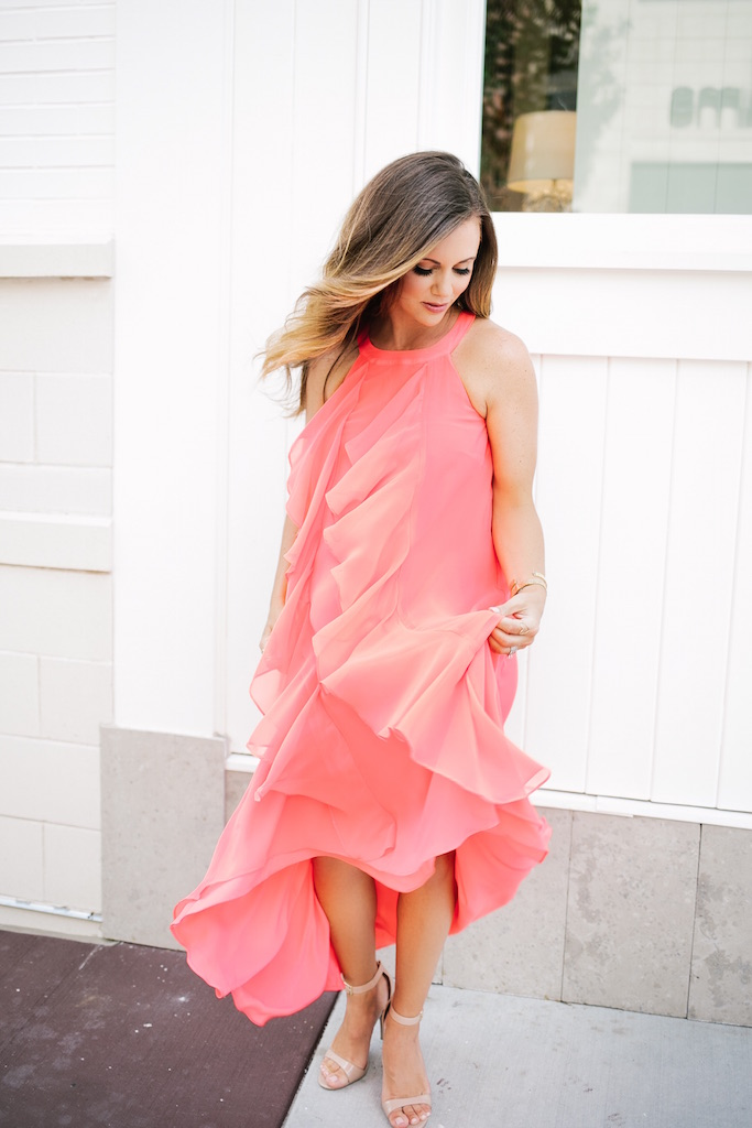 KBStyled: summer dress summer maxi dress maxi dresses halter dress coral dresses