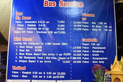VIP Horaires d'autobus Pakse