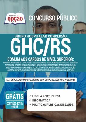 A Apostila GHC-RS PDF 2020 - Comum aos Cargos de Nível Superior foi elaborada de acordo com o Edital 02/2020 do concurso, por professores especializados em cada matéria e com larga experiência em concursos.