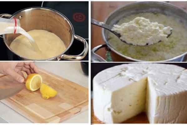 Învață să prepari o brânză de casă gustoasă și sănătoasă dintr-un litru de lapte, iaurt și o bucată de lămâie!