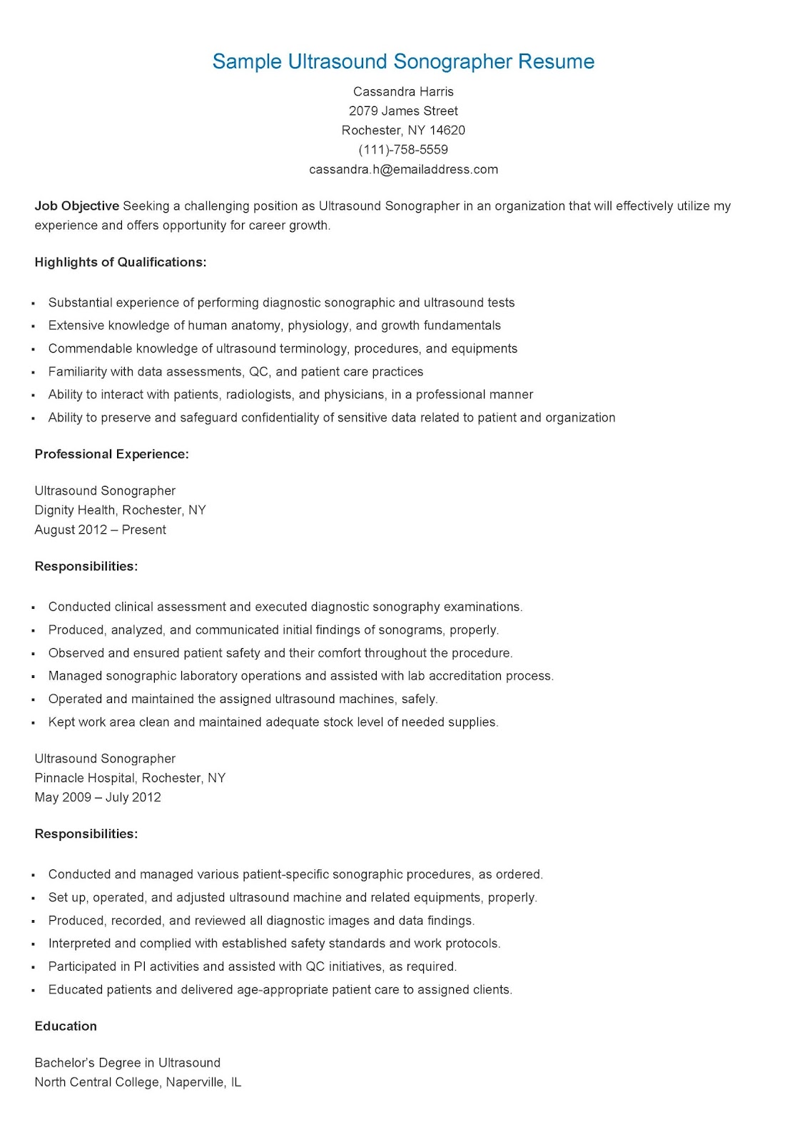 ultrasound resume examples foodcityme best 25
