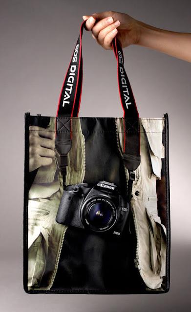 Desain Paper Bag/ Tas Belanja kamera, potografer