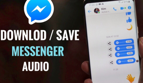 how to download facebook messenger audio