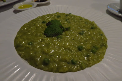 PerBacco Enoteca con Cucina, green pea risotto
