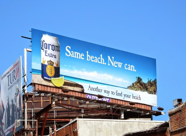 Corona Extra Same beach New can billboard