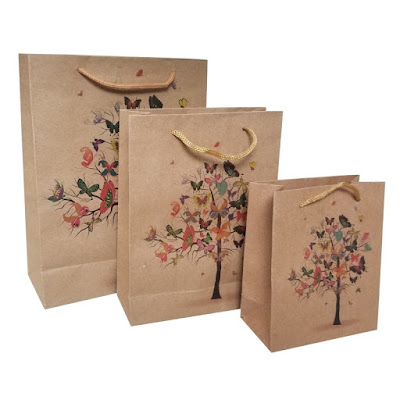 Shop Nile Corp Wholesale Butterfly Tree Kraft Paper Gift Bag