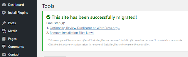 Restore Website (image) Backup From Duplicate Plugin 7
