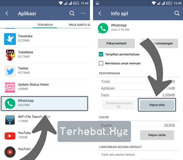 cara log out whatsapp di Android