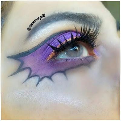 Halloween Makeup And Lip Art Bat Wing