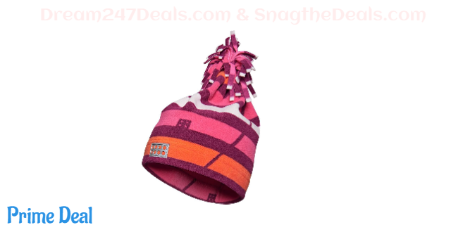 LEGO Wear Kids & Baby Fleece Pom Pom Hat with Reflective Detail, Bordeaux, 4-7 Yr