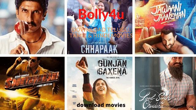 Bolly4u 2020: Download Bollywood Hollywood South Dual Audio Movies