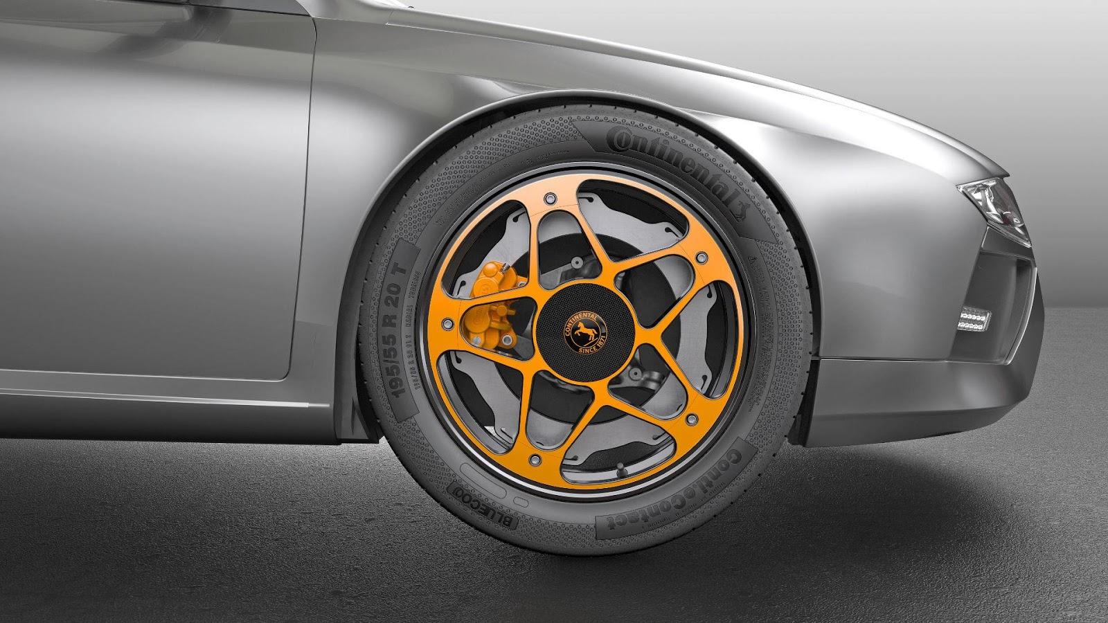 """""""Continental"""" pristatė naują rato ir stabdžių koncepciją"""
