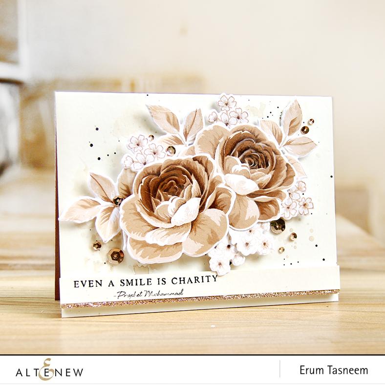 Altenew Build-A-Flower: Rose. Card by Erum Tasneem | @pr0digy0