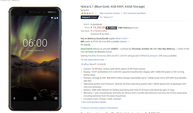 Nokia 8 Sirocco, Nokia 6.1, Nokia 5.1 and Nokia 3.1 are cheap, prices cut by up to Rs 13,000