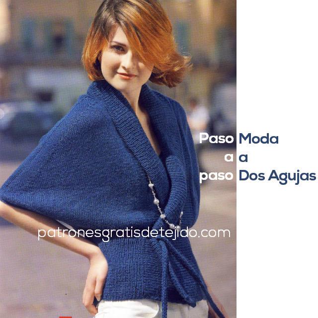 tutorial sueter moderno tejido con palitos