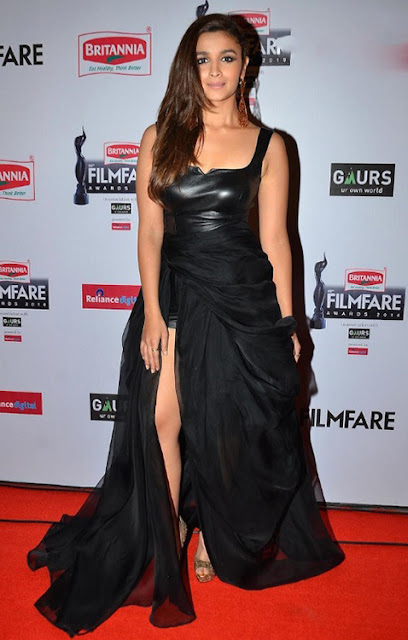 Alia Bhatt in Thigh High Slit Dress